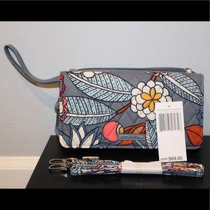 Vera Bradley RFID Wallet with Crossbody Strap NEW